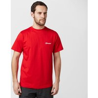 Berghaus Mens Logo Tee, Red