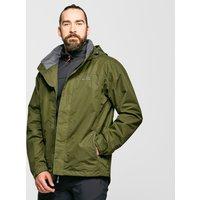 Peter Storm Mens Downpour 2-Layer Waterproof Jacket - Green/Khk, Green/KHK