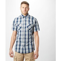 Brakeburn Men's Check Short Sleeve Shirt, Navy