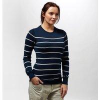 Brakeburn Women's Stripe Knit Jumper, Navy