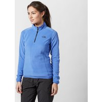 The North Face Womens Glacier Quarter Zip Fleece, Light Blue
