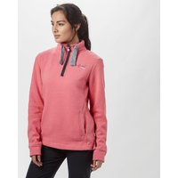 Weird Fish Womens Bina Quarter Zip Fleece, Pink