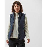Weird Fish Womens Caribou Lined Print Vest, Navy