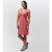 Weird Fish Womens Gandhak Stripe Jersey Dress, Pink