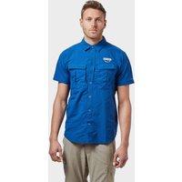 Columbia Mens Cascades Explorer Short Sleeve Shirt - Blue, Blue