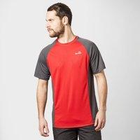 Peter Storm Mens Short Sleeve Tech T-Shirt, Red