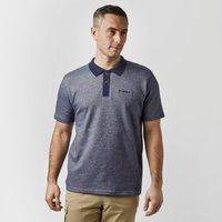 Brasher Mens Robinson Stripe Polo Shirt  Navy