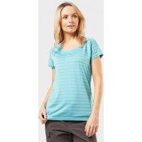 Sprayway Womens Malpais Striped T-Shirt, Blue