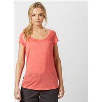 Icebreaker Womens Cool-Lite Spheria Short Sleeve T-Shirt, Light Orange