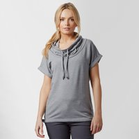 Icebreaker Womens Mira Short Sleeve Hoodie, Light Grey