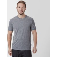 Icebreaker Mens Tech Lite Short Sleeve T-Shirt, Mid Grey
