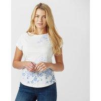 Peter Storm Womens Striped FloralT-Shirt, Cream