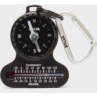 Silva 10 Compass Carabiner - Black/Silver, Black/Silver