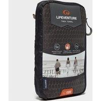 Lifeventure Hydro Fibre UltraLite Travel Towel XL, Black