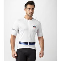 Spokesman Mens Climbers Cycling Jersey, White