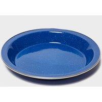 Highlander Deluxe 25Cm Enamel Plate - Blue/Blue, Blue/Blue