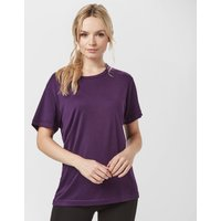 Peter Storm Womens Short Sleeve Thermal Crew, Purple