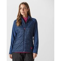 Sprayway Womens Moulin Hybrid Fleece, Blue