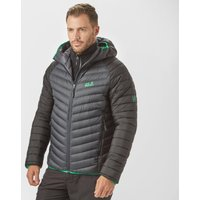 Jack Wolfskin Mens Zenon Storm Hooded Down Jacket, Grey