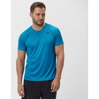 Adidas Mens D2M T-Shirt, Mid Blue