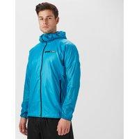 Adidas Men's Terrex Agravic Alpha Hooded Shield Windbreaker, Blue