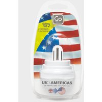 Design Go UK-USA Adaptor, White