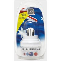 Design Go UK-Australia Plug Adaptor, White
