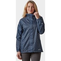 Peter Storm Womens Patterned Packable Jacket, Navy