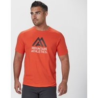 The North Face Mens Mountain Athletics Wicking T-Shirt, Orange