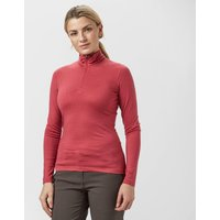 Icebreaker Womens Oasis Half-Zip Baselayer, Red