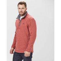 Weird Fish Mens Quarter Zip Sweatshirt, Red