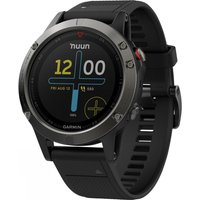 garmin fēnix 5 multisport gps watch, black/grey