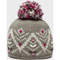Kusan Women's Pretty Bobble Hat, Light Grey