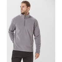 Brasher Men's Bleaberry Half Zip Fleece, Dark Grey