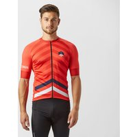 Spokesman Mens Attack Cycling Jersey, Red
