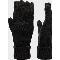 Peter Storm Womens Cable Knitted Gloves - Black, Black