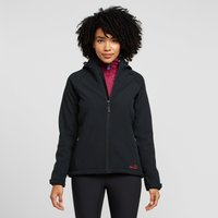 Peter Storm Womens Hooded Softshell Jacket, Black