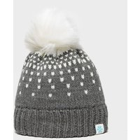 Alpine Women's Snowflake Bobble Hat, Grey