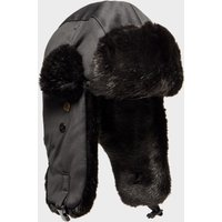 Alpine Women's Fur Trapper Hat, BLK/BLK