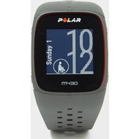 polar m430 hr gps running watch, grey