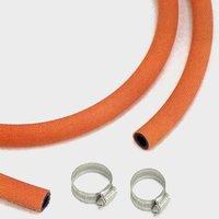 Continental Gas Hose & 2 Clips, ORANGE/CLIPS