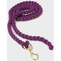 Shires Plain Headcollar Lead Rope  Purple