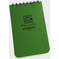 """Rite Pocket Notebook (3"""" X 5"""") - Green, Green"""