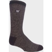 Heat Holders Men's Twist Socks, BROWN/BROWN