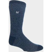 Heat Holders Men's Twist Socks, BLUE/BLUE