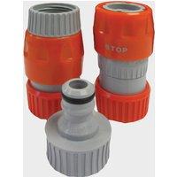 Hitchman Mains Adaptor Hose Connectors - Orange/Grey, ORANGE/GREY