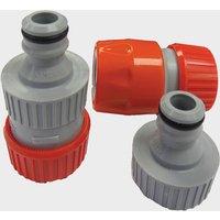 Hitchman Aquaroll Mains Adaptor Extension Hose Connectors, Red/Grey