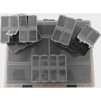 FLADEN 10 Section Box Plus 6 Bits Boxes, Clear