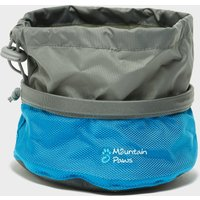 Mountain Paws Dog Food Bowl (Small), Blue/Grey