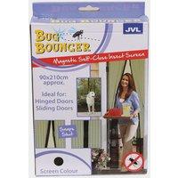 Quest Bug Bouncer Door Insect Screen, Black